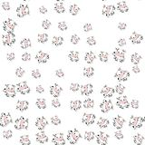 Seamless cartoon cows pattern with drop shadow on white Stock Photos