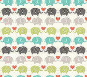 Seamless cartoon elephant pattern Royalty Free Stock Photography