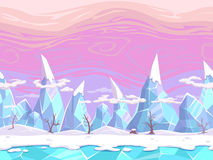 Seamless cartoon fantasy landscape vector illustration