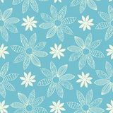 Seamless Cartoon Flower Background Royalty Free Stock Photography
