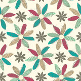 Seamless Cartoon Flower Background Royalty Free Stock Photo