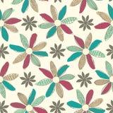 Seamless Cartoon Flower Background Royalty Free Stock Photo
