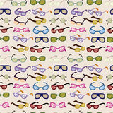 Seamless cartoon Glasses pattern. Vector drawing Stock Photo
