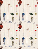 Seamless cartoon golf game pattern Stock Images