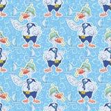 Seamless, cartoon goose divers Royalty Free Stock Photography