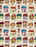 Seamless cartoon house pattern Royalty Free Stock Images