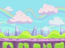 Seamless  cartoon landscape Stock Images