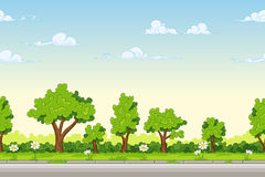 Seamless cartoon nature background Royalty Free Stock Photography