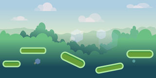 Seamless cartoon nature landscape with different platforms and separated layers for games. Ready for parallax effect royalty free illustration