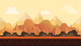 Seamless cartoon nature landscape Stock Images