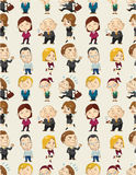 Seamless cartoon office worker pattern Royalty Free Stock Photography