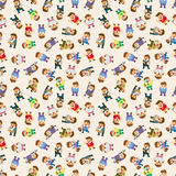 Seamless cartoon office worker pattern Royalty Free Stock Photo