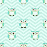 Seamless cartoon owls background pattern Royalty Free Stock Image