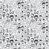 Seamless Cartoon Pattern Royalty Free Stock Image