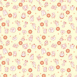 Seamless cartoon pattern Royalty Free Stock Photos