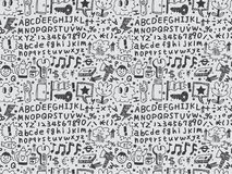 Seamless cartoon pattern Royalty Free Stock Images