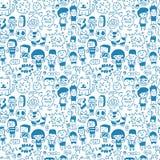 Seamless cartoon pattern. Vector,illustration Stock Photo