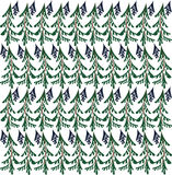 Seamless cartoon  pattern of forest trees, spruce, fir-tree Stock Photos