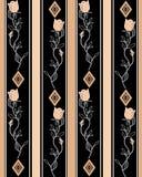Seamless cartoon retro roses flowers pattern background Stock Image