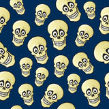 Seamless Cartoon Skull Pattern Stock Images