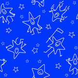 Seamless cartoon stars Royalty Free Stock Images