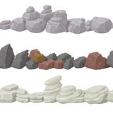 Seamless cartoon stones and bridge for game design. Vector elements . Stock Photography