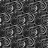 Seamless Cartoon Swirls Stock Images