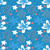 Seamless cartoon winter pattern Stock Photo