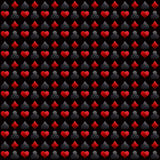 Seamless casino gambling black background with red and black  sy Stock Photo