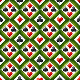 Seamless casino gambling poker background with red and black sym Stock Photography