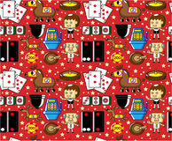 Seamless casino pattern. Vector drawing Royalty Free Stock Photo