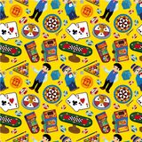 Seamless casino pattern Stock Photos
