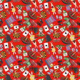 Seamless casino pattern. Vector drawing Stock Photography