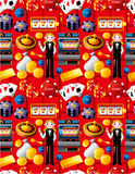 Seamless casino pattern Stock Photography