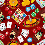 Seamless casino pattern. Drawing Royalty Free Stock Image