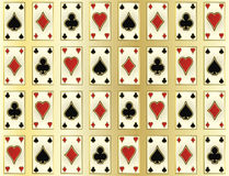Seamless casino pattern with poker cards, vector Stock Image