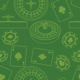 Seamless casino pattern Stock Images