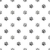 Seamless Cat Animal Paw Pattern Stock Photo
