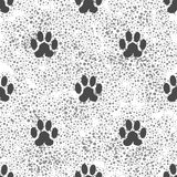 Seamless Cat Animal Paw Pattern. Print of Paw Background Stock Photography