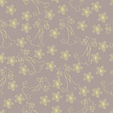 Seamless cat and flower pattern Stock Photos