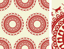 Seamless cat luxury pattern Stock Photography