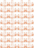 Seamless cat pattern Royalty Free Stock Photo