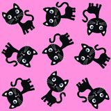 Seamless cat pattern Royalty Free Stock Image