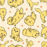 Seamless cat pattern Stock Image