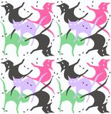 Seamless cat pattern Royalty Free Stock Images