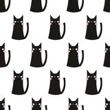 Seamless cat pattern. Seamless pattern,cat vector art  background design for fabric and decor Royalty Free Stock Photography