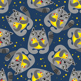 Seamless cats background Royalty Free Stock Photo