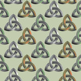 Seamless Celtic knot background Royalty Free Stock Images