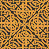 Seamless Celtic knot infinity pattern. Vector illustration Stock Photo