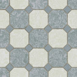 Seamless ceramic tile kitchen floor Stock Image